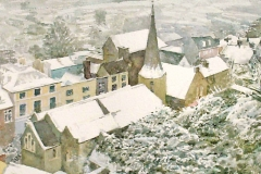 Snow on St Michaels Church, Lewes