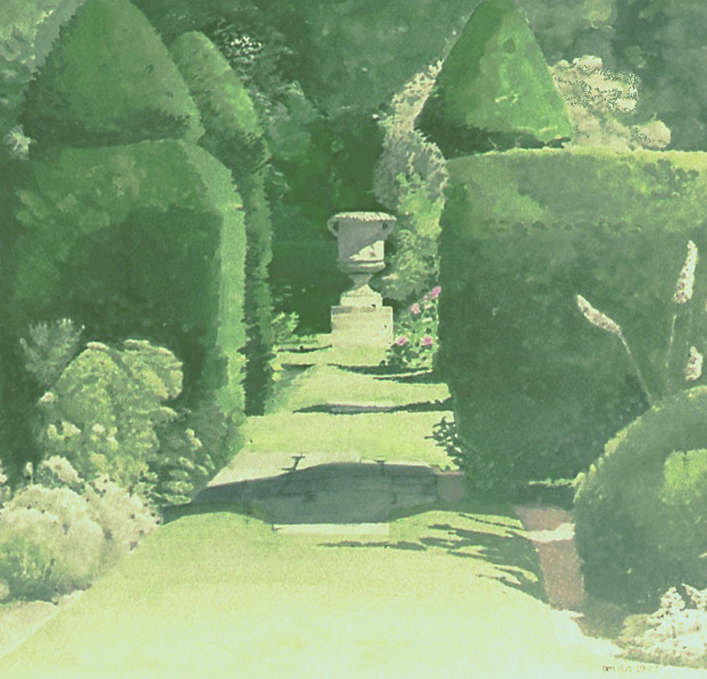 Urn and topiary