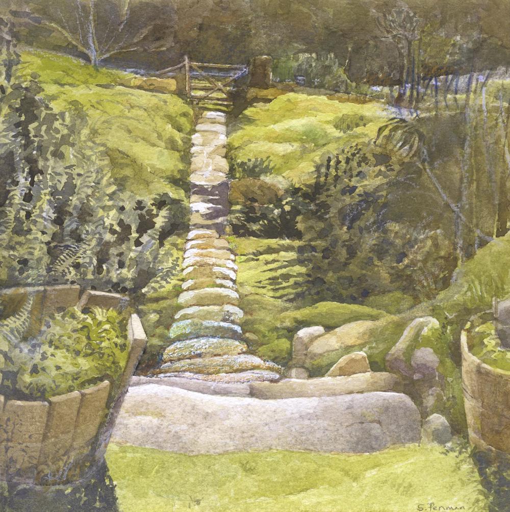Steep stone steps