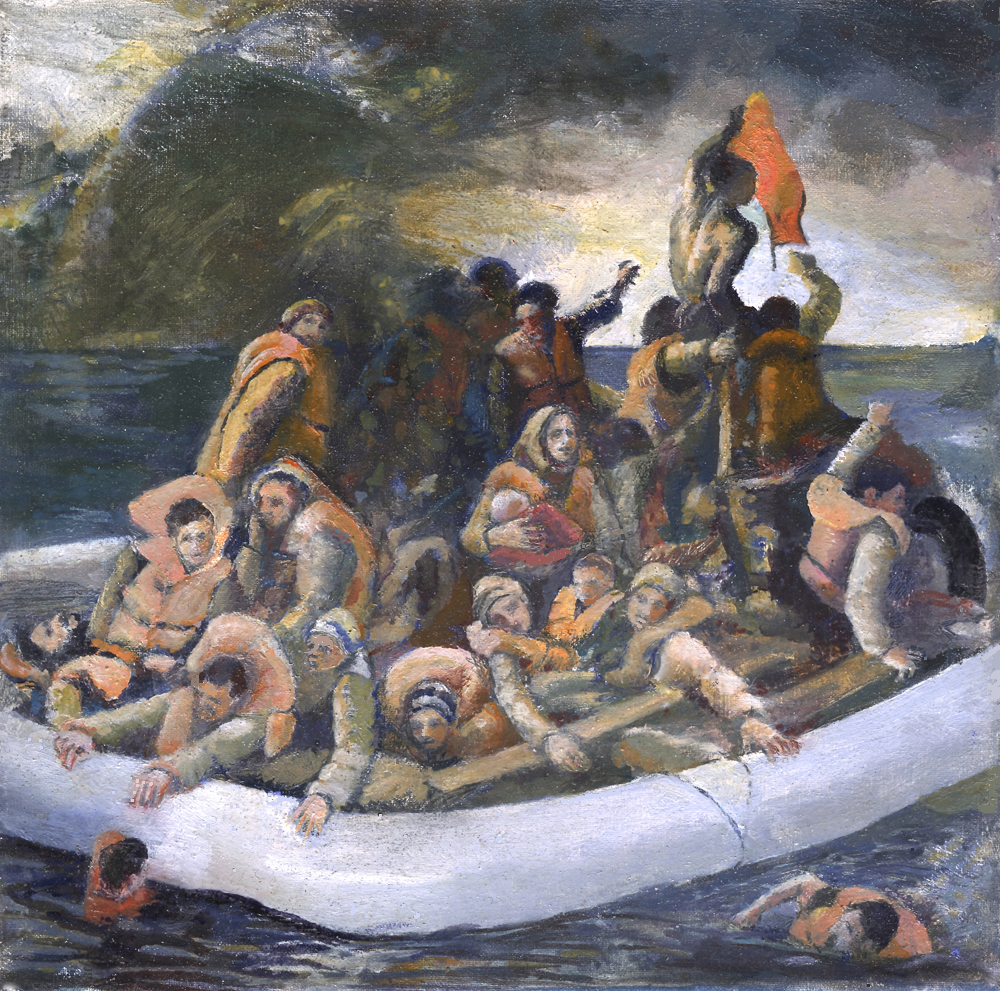 Life-raft (after Gericault)