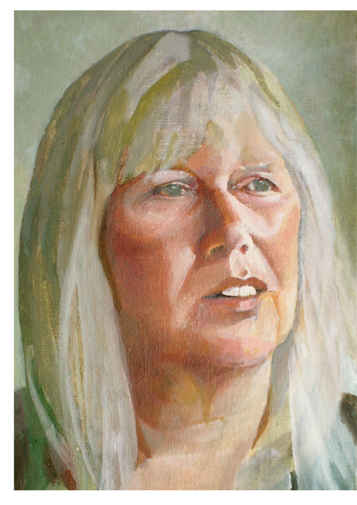 Oil portrait, Cindy