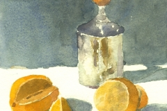 Oranges & coffee frother